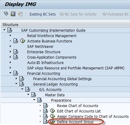 How to Create a Chart of Accounts Account Group