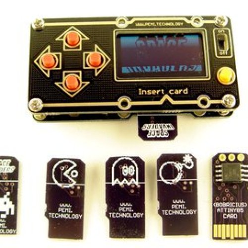 Multi game retro console with CPU on μSD cards