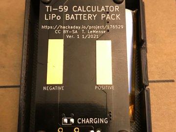TI-59 LiPo Battery Pack