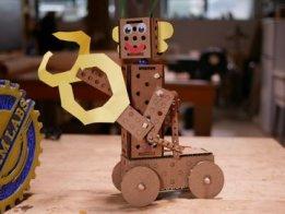 Laser Cut Cardboard Robot Construction Kit