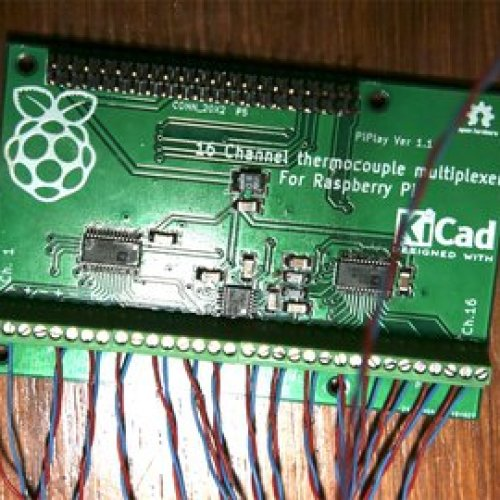 16 Channel Thermocouple Multiplexer for Raspi