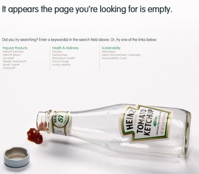 Heinz' 404 Page