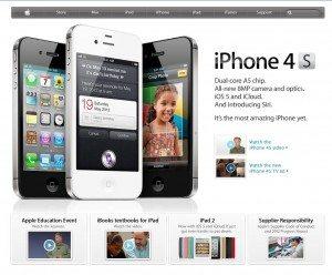 screen cap Apples website