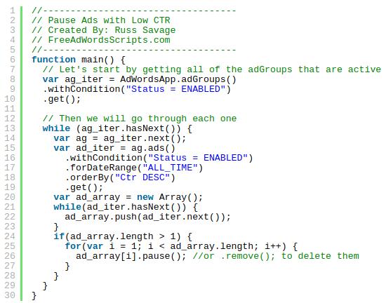 Javascript code in Google Ads