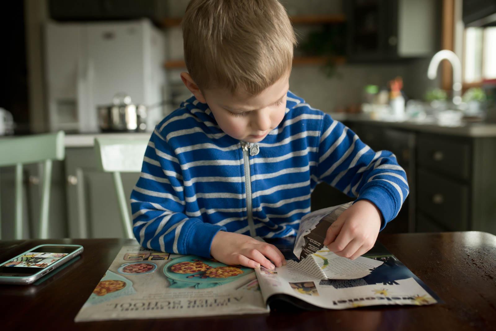Magazine Scavenger Hunt With Paper Tearing Web Mix Marketing