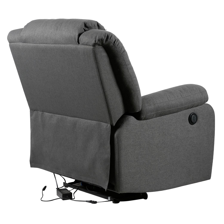 fauteuil electrique inclinable cloud gris anthracite