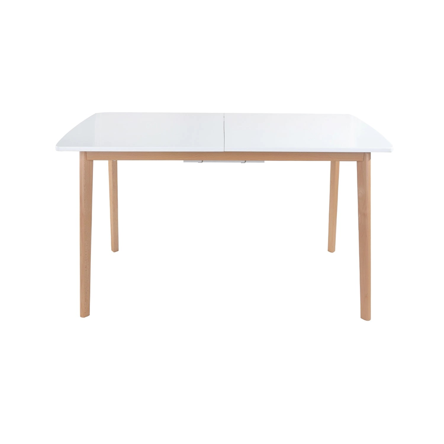 table extensible 120 160cm blanche helga
