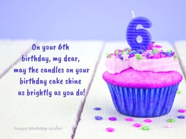Happy 6th Birthday Wishes And Messages Happy Birthday Wisher