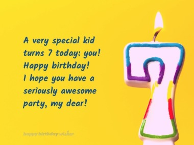 Cutest Birthday Wishes For 7 Year Olds Happy Birthday Wisher