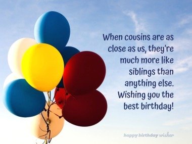 Best Birthday Quotes For Cousin Brother Happy Birthday Wisher
