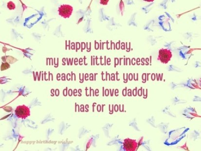 Beautiful Birthday Wishes for Daughter From Dad - Happy Birthday Wisher
