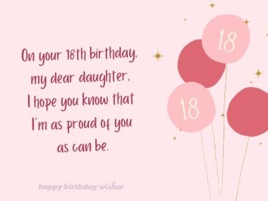 18th Birthday Wishes For Daughter Happy Birthday Wisher