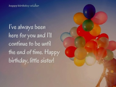 Birthday Messages For Younger Sister Happy Birthday Wisher