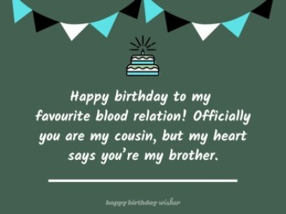 BEST) Birthday Quotes for Cousin Brother - Happy Birthday Wisher