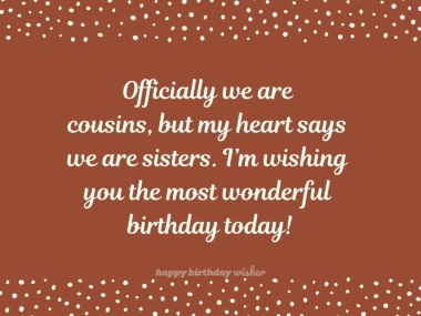 Birthday Quotes For Cousin Happy Birthday Wisher