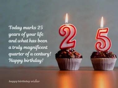 25th Birthday Wishes Happy Birthday Wisher
