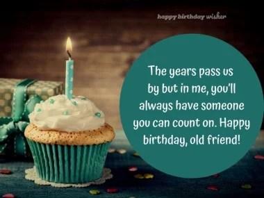 Birthday Wishes For Old Friend Happy Birthday Wisher