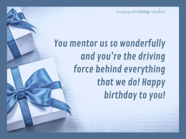 Birthday Wishes For Mentor Happy Birthday Wisher