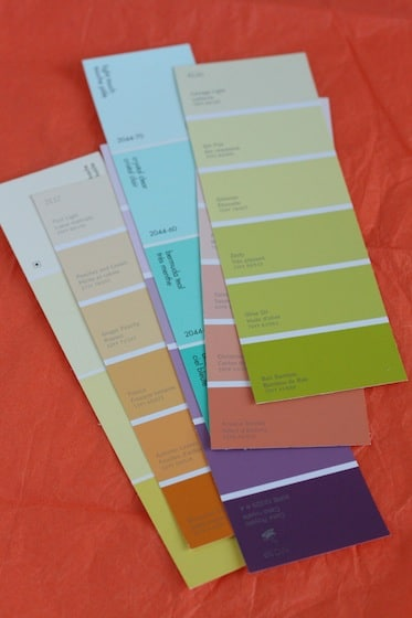 Paint swatch samples