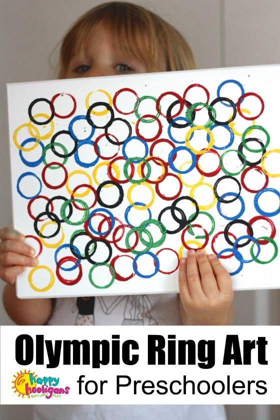 Olympic Rings Craft for Preschoolers