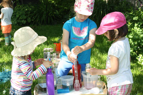 pretend play perfume factory activity for kids