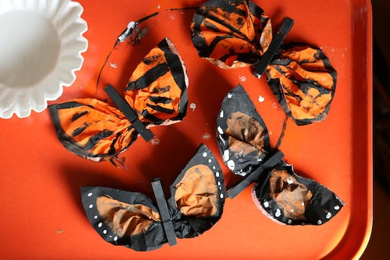 Painted Coffee Filter Monarch Butterfly