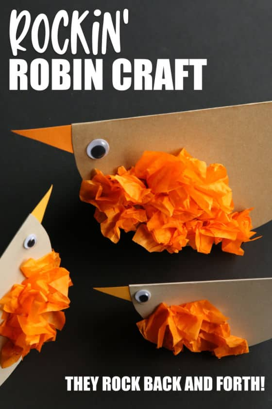 Rockin' Robin Craft for toddlers and preschoolers