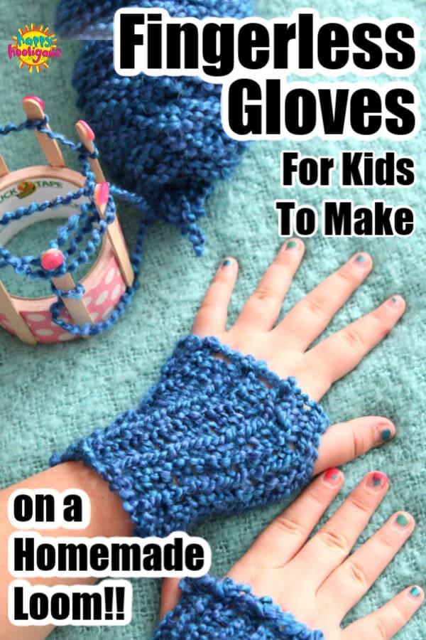 Homemade Fingerless Gloves  - pin image