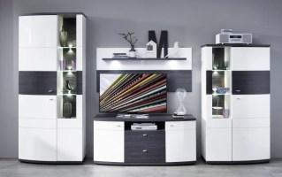 Wohnwand Terrazzo in weiß/anthrazit online bei Hardeck kaufen