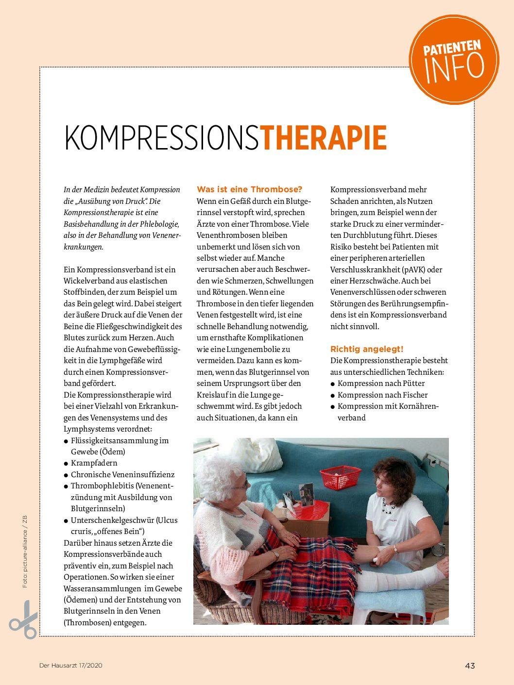 patienteninfo kompressionstherapie