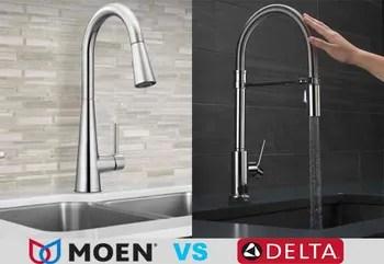 moen vs delta a kitchen faucets read