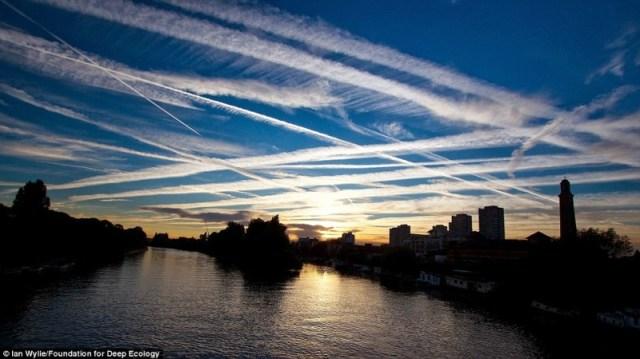 trafico aereo sobre londres