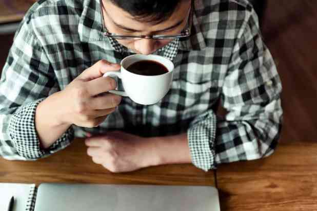 minum kopi masih ngantuk