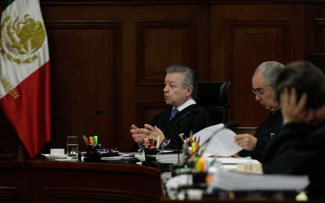 El ministro Arturo Zaldívar Lelo de Larrea durante la sesión en la Suprema Corte de Justicia de la Nación. FOTO: SCJN /CUARTOSCURO.COM