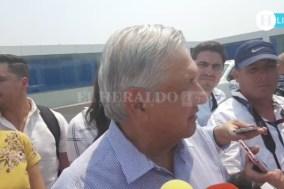 López Obrador habla sobre la renuncia de Germán Martínez, a su llegada a Veracruz