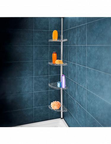 etagere d angle pour salle de bain metal