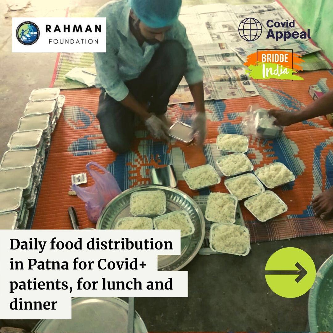 रहमानस् 30 की बेहतरीन पहल: कोविड मरीजों और साथ आए परिजनों को दे रहा है मुफ्त भोजन! 4