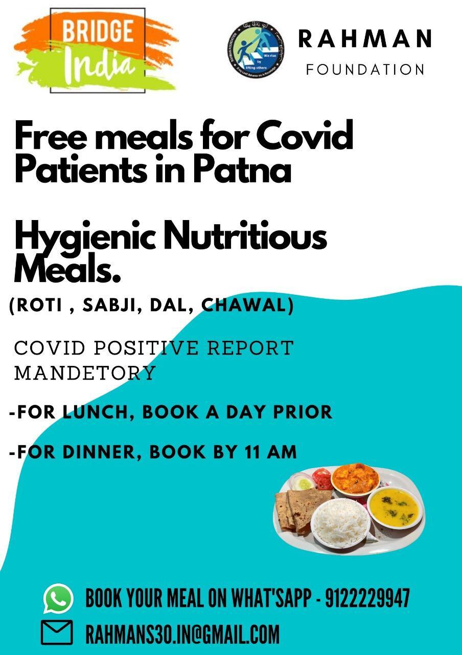 रहमानस् 30 की बेहतरीन पहल: कोविड मरीजों और साथ आए परिजनों को दे रहा है मुफ्त भोजन! 2