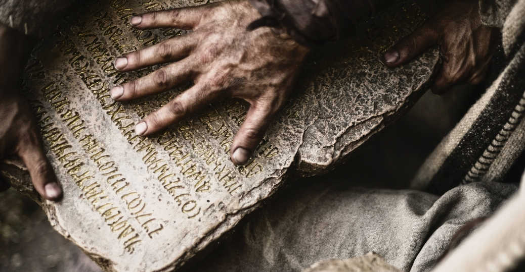 Moses receives the Ten Commandments.