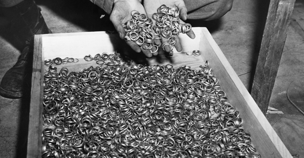 Wedding Rings Taken From Concentration Camp Inmates