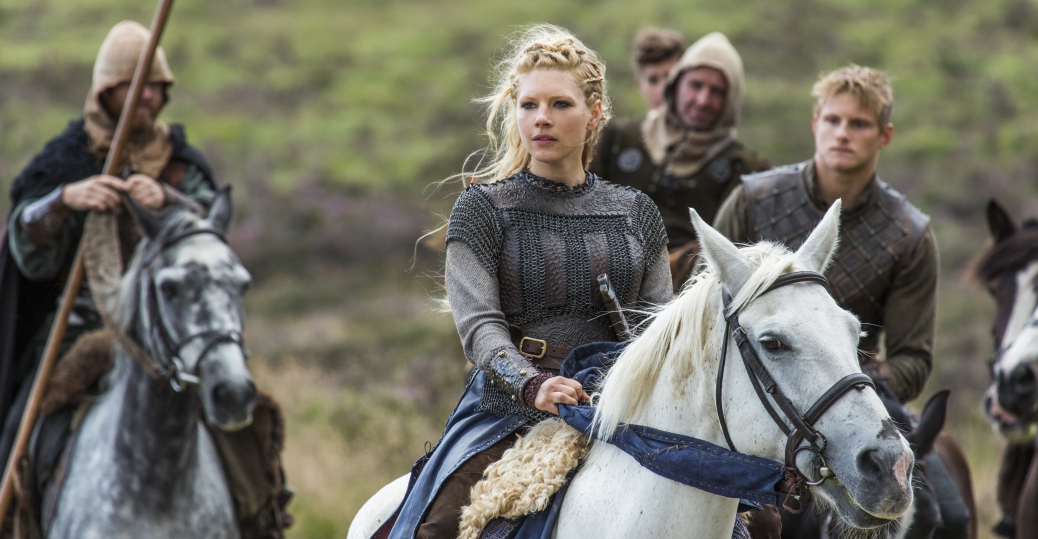 Katheryn Winnick as Lagertha and Alexander Ludwig as Bjorn