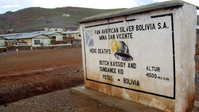 A marker near San Vicente, Bolivia, which claims to be the final resting place of Butch Cassidy and the Sundance Kid. (Credit: Tyler Bridges, Miami Herald, MCT via Getty Images)