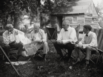 Henry Ford, Thomas Edison, Warren Harding, Harvey Firestone, Vagabonds