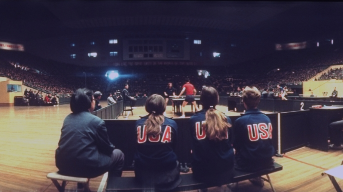 Female members of the American ping pong team. (Credit: Frank Fischbeck/Getty Images)