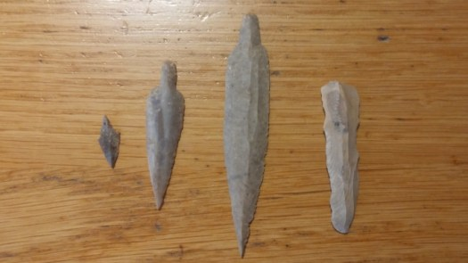 Neolithic flint tools found in the cave.