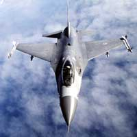 A typical F-16.