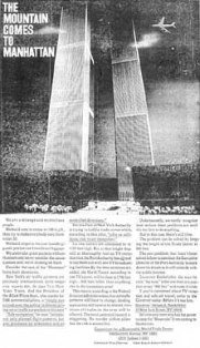 A 1968 advert with an artist's rendition of a plane hitting the WTC.