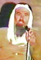 Sheikh Abdullah Azzam giving a speech in the US in February 1988.