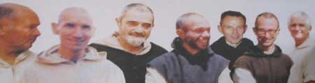 A photo montage of the seven murdered monks from Tibhirine.