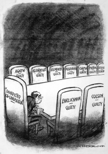 Editorial cartoon from the Washington Post by 'Herblock,' July 14, 1974.